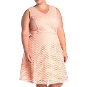 Tamarind Peach Eyelet Dress